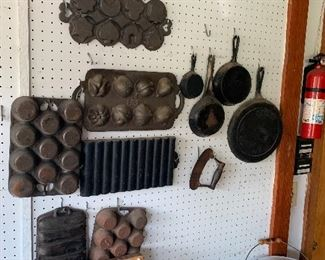Case iron pans and skillets