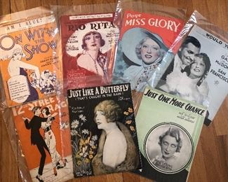 Old Hollywood and Ziegfeld Follies sheet music