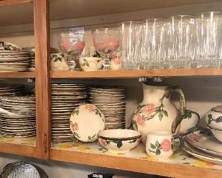 Franciscan Desert Rose dishes and serving pieces