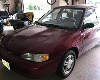 1999 Chevy Prizm with 95,000 miles.  It looks and runs good.