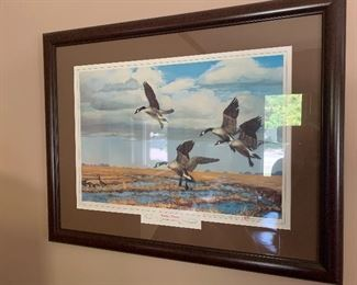 "Vintage Storz Brewing company framed artwork ""Hunter's Dream,"" a Richard E. Bishop Original (Omaha's brewery from 1876-1972)"