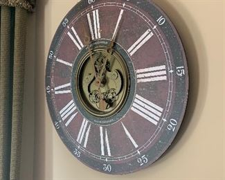 Sterling and Noble Clock Company large wall cloch