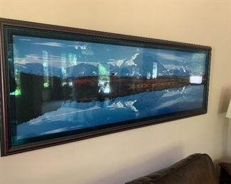 This large sofa size framed artist's photograph was purchased from the old market for $3,500 and will be available.