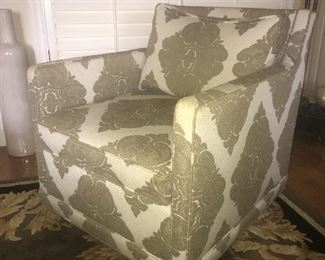 Southern Furniture pair of upholstered swivel chairs $575