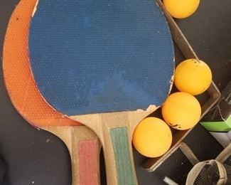 Ping Pong Paddles and Balls and Pool Table $50