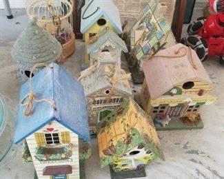 Variety of Birdhouses