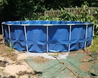 Above ground pool. Needs to be unassembled to haul.