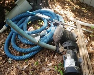 pool accessories, filter and hose