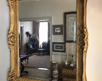 Gilded foyer mirror