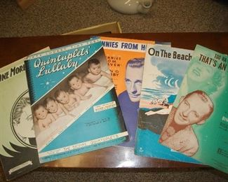 "A lot of sheet music - just a sampling.  There is a lot of ""choral"" music, hymnbooks, song books and music for instruments."