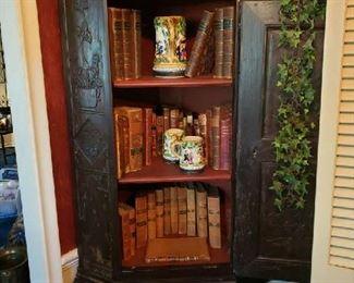 Corner Cabinet hand  carved.
