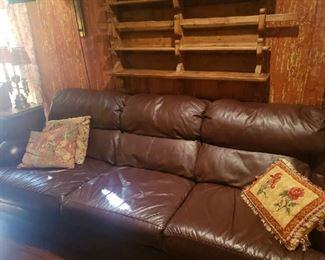 Thomasville Leather Sofa