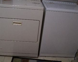 Kenmore gas dryer, Maytag washer