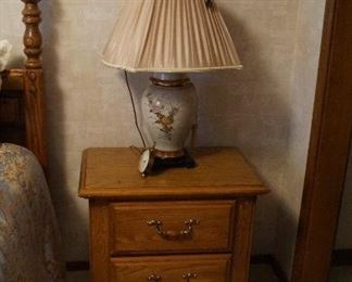 night stand, lamp