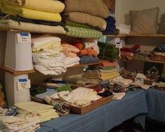 towels, blankets, tablecloths, doilies, hand towels, dish cloths and more