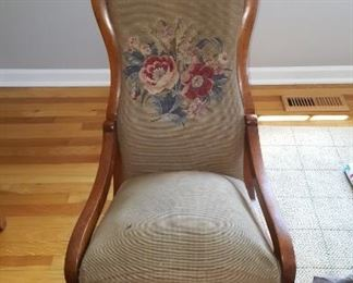 Rocking Chair with needlepoint Seat