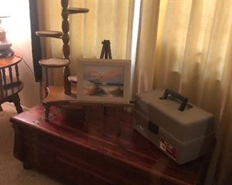 Cedar Chest, Art supplies, plant stand