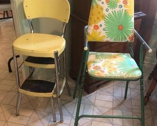 Yellow Costco Stool Vintage High Chair