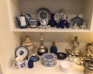 Great blue and white collection