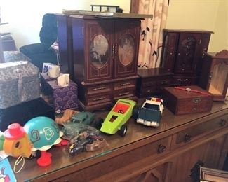 Vintage toys and cars