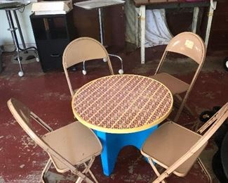 Vintage metal children's chairs