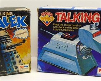 RARE  DR. WHO TALKING DALEK & K-9 PALITOY BBC ORIGINAL BOX