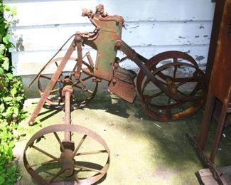 old farm equipment great for yard decorations, steam punk, industrial art