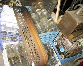 SO MANY BALL AND KEER VINTAGE CANNING JARS