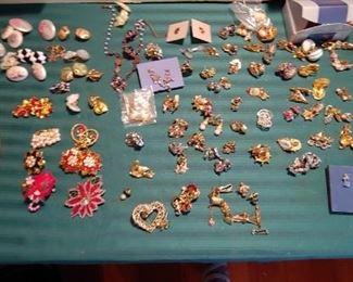lots of clip earrings