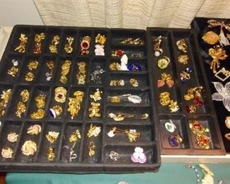 brooches, lots of avon, sarah coventry