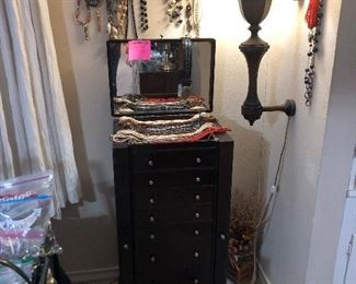 Lots of nice costume jewelry and Sterling silver