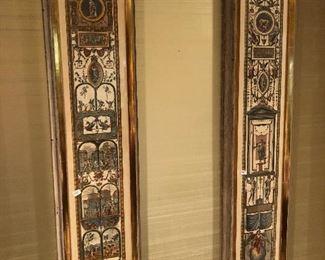 Pair of Mid Century framed art