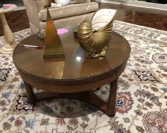 Small round Mid Century coffee table