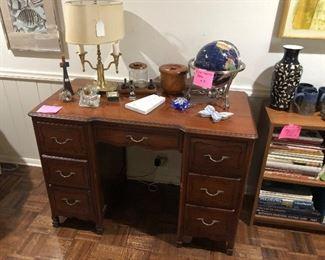 Knee hole vintage desk