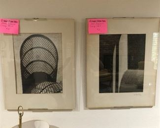 Pair of drawings from an artist in Greenwich village New York in the late 1950's