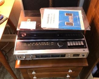 Vintage Panasonic stereo and hi-fi with record player