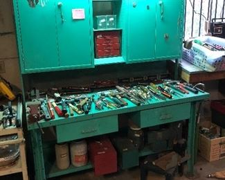 Industrial tool bench very cool!