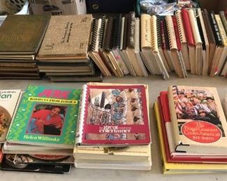 Wonderful collection of vintage cookbooks.