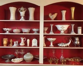 Vast collection of Lenox, china, porcelain and goldware.