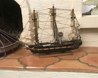 Wood masted Sailing Ship model