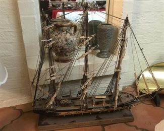 Large Wood Masted Sailing Ship model