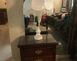 Matching Pair of huge ALABASTER lamps