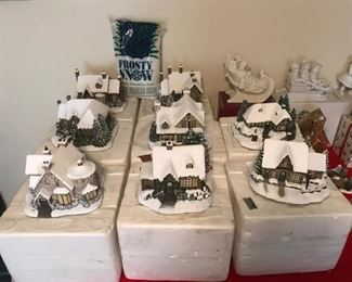 Thomas Kinkade Christmas houses with original boxes.