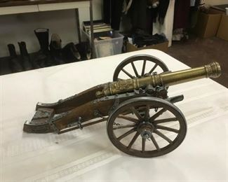 Wood Brass Cannon