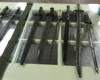 Large Collection of Knives and Bayonets