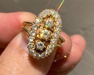victorian diamond statement ring