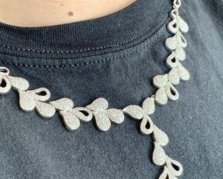 6 carat designer diamond necklace