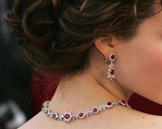 Bokara Bespoke diamond and ruby necklace
