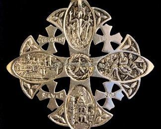 sterling jerusalem cross