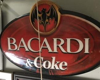 Bacardi & Coke wall art